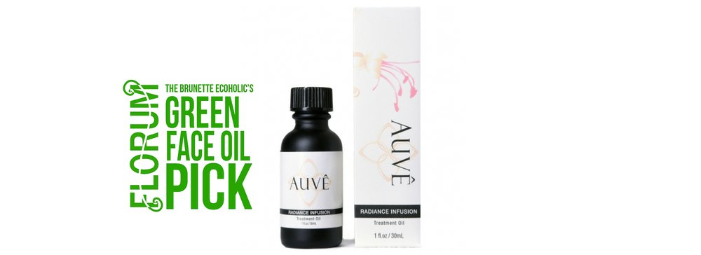 Florum Fashion Magazine - Green Product Swap - by Sabrina Zimmerman of the Brunette Ecoholic - Organic facial oil -auve