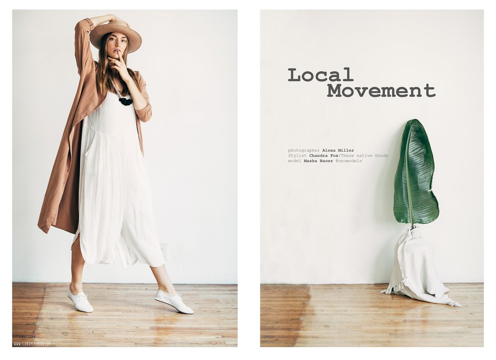 Local Movement -Alexa Miller - Chandra Fox - These Native Goods - Masha Bacer - Uno Models Madrid - Florum Fashion Magazine