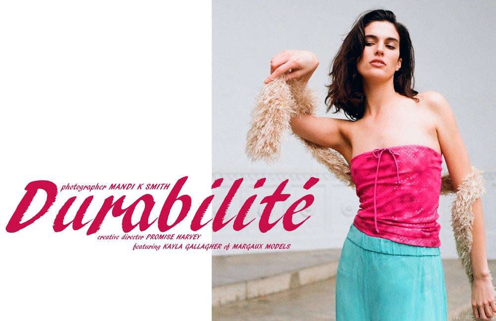 durabilité - florum fashion magazine - mandi k smith - promise harvey - Kayla Gallagher Margaux Models LA - Sustainble - Slow Fashion Movement