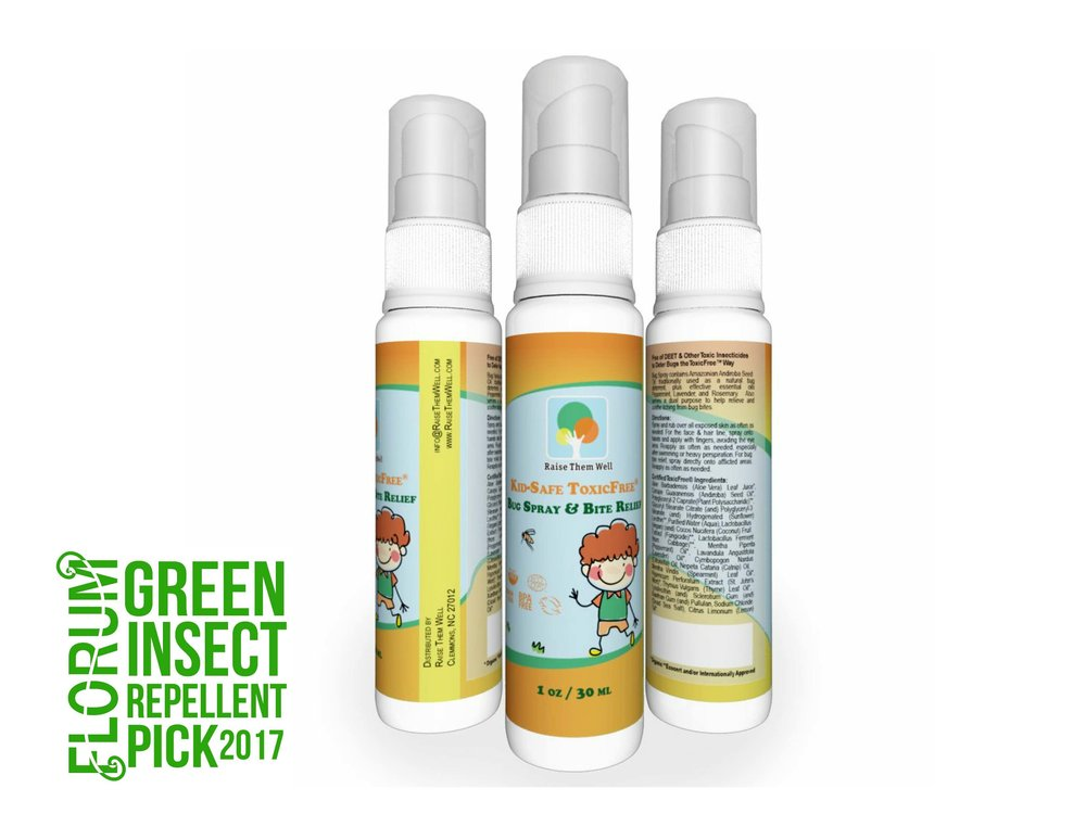 Raise Them Well - 3 Pack Kid Safe Bug Spray $16.99