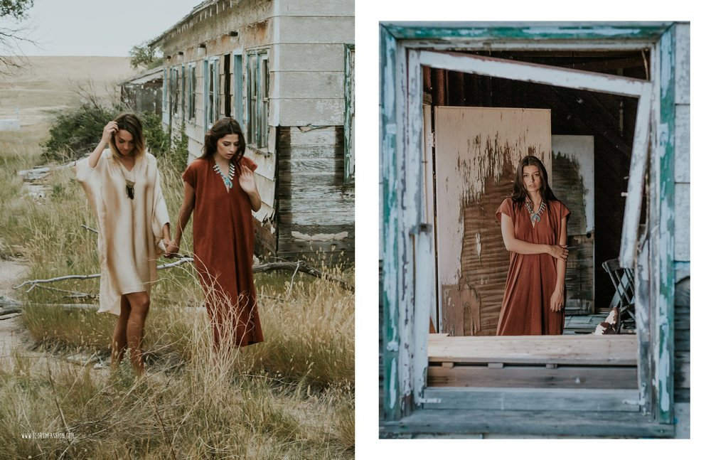 Soeurs  Florum Magazine Ethical Clothing Slow fashion Movement Ladd Forde - Wardrobe Stylist Hannah Moon - Meg Chenoweth Wilhelmina Denver - Danna Denson NXT Model - Sacred Rites Jewelry - Shop Goldyn Denver