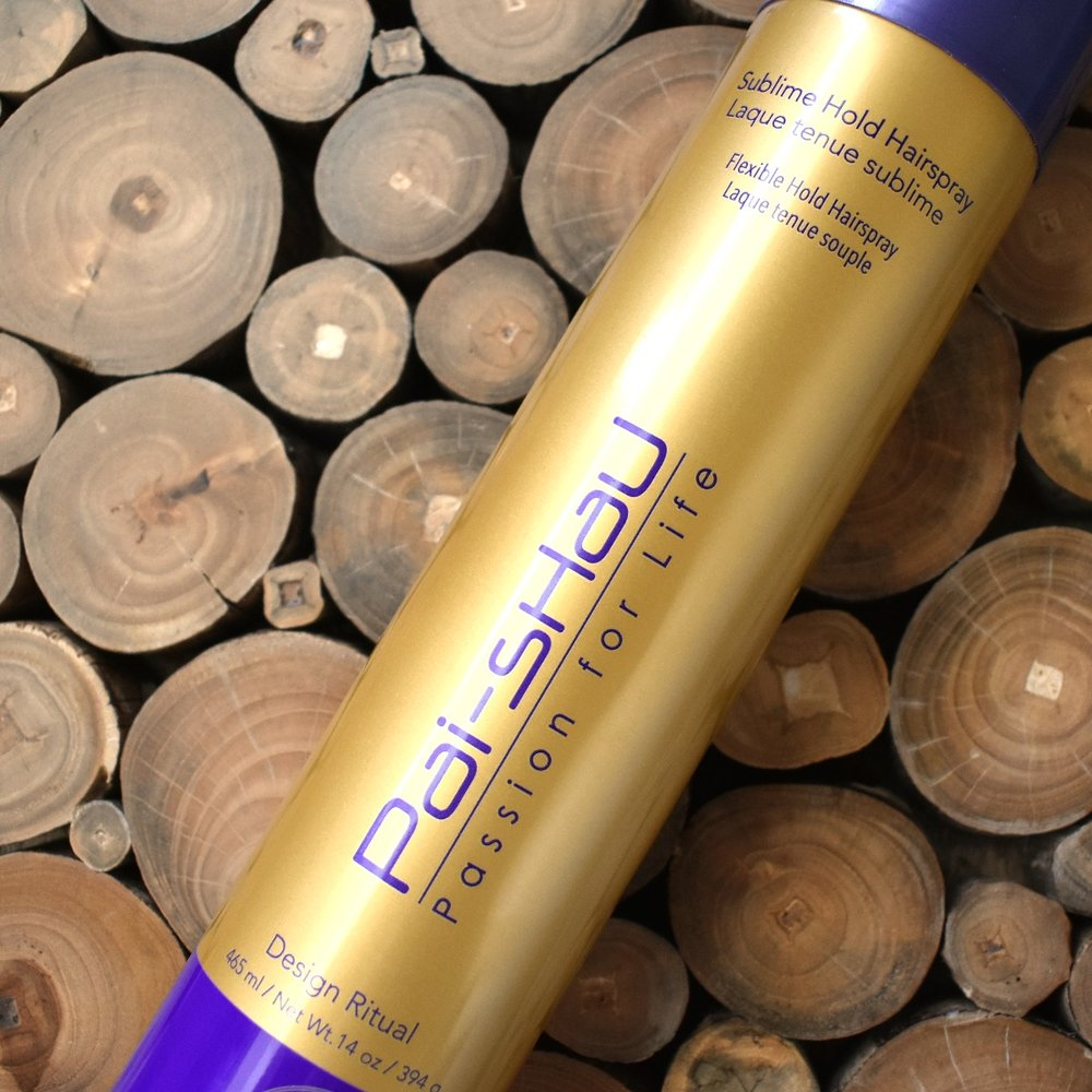 Pai-Shau - I have had this tea based (yes tea) hairspray for over a year and LOVE it. One thing I can assure you is that Pai-Shau knows what we want and this will set your hair.Find the Design Ritual hairspray online HERE for $29.50