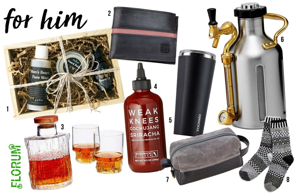 Noelle Lynne Holiday Gift Guide 2017 Florum Fashion Magazine Sustainable Vegan Fairtrade Organic made in USA Christmas Magic Cabin Uncommon Goods Bushwick Kitchen Growler Werks Upcycled tire wallet freebird organics