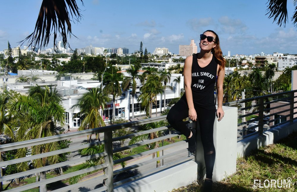 Starting off my Wednesday of Art Week Miami wearing a   'Will Sweat for Wine' shirt from The Wild and Free Project  , yoga pants from Alo Yoga, and my favorite   sustainable sneakers made from recycled plastic bottles by Spanish green brand EcoAlf.