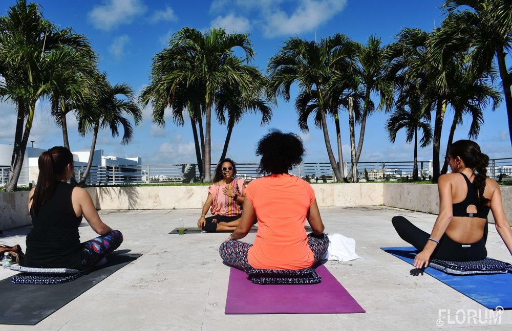 Francine Madera   from   Innergy Meditation   leading a meditation class on the rooftop of   Wework in South Beach Miami off of Lenox Ave  . If you happen to be in Miami, be sure to stop by Innergy Meditation in South Miami Beach to experience a class that Francine leads, you wont regret it and your mind will be eternally thankful for the reboot!