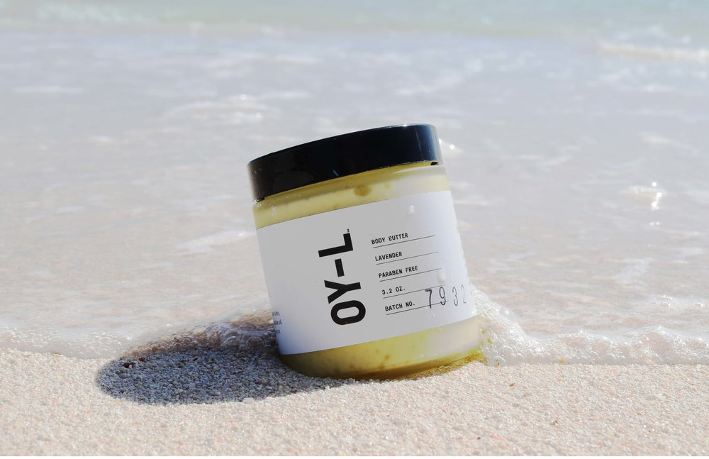Another essential when surrounded by water and salt (aka the ocean) is a hydrating body butter to keep your skin from getting to dry. My personal favorite for this is the Lavender Body Butter from Oy-L, not only is it paraben free however it is also 100% natural with an ingredient list of hemp seed oil, hemp seed butter, shea nut oil, meadowfoam seed oil, avocado oil, jojoba oil, essential oils, vitamin E, and arrowroot.   You can  BUY  this  HERE  on Aillea (my favorite online clean beauty store)   for $30