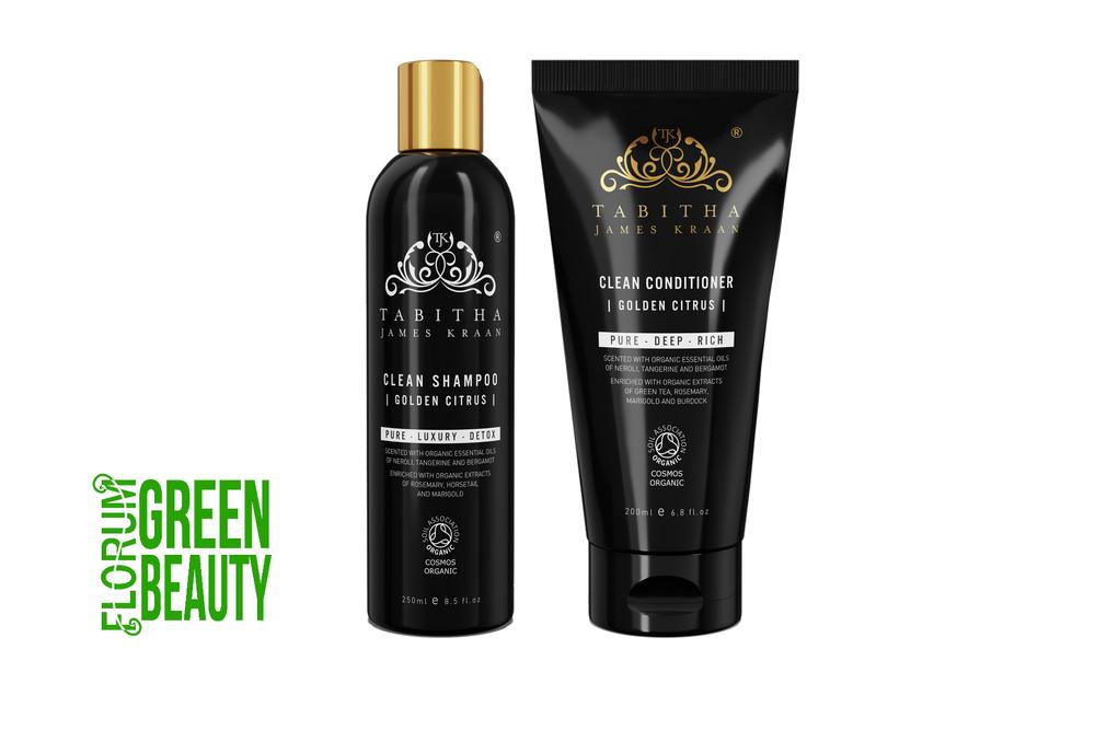 tabitha james kraan clean shampoo golden citrus £25    BUY HERE   tabitha james kraan clean conditioner golden citrus £32  BUY HERE