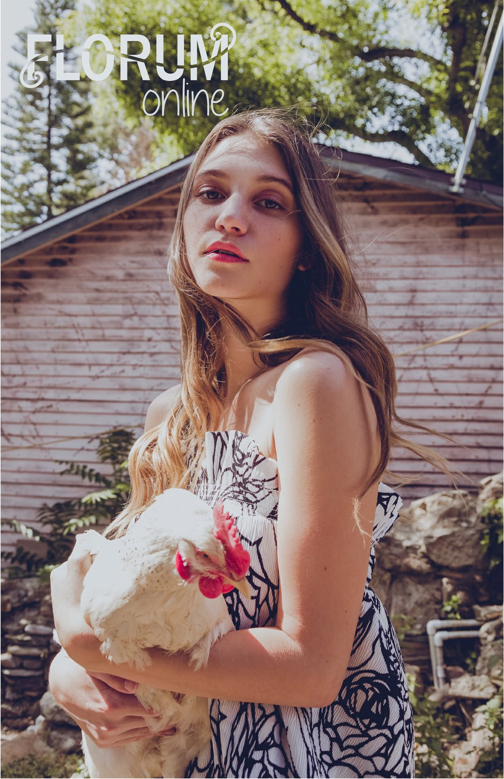 farm chicken editorial Julia Torchine - photographer, creative director wardrobe stylist -The Russian Doll - silverlake farms -MP Management - evelyn feliciano makeup and hair for florum fashion magazine submission.jpg