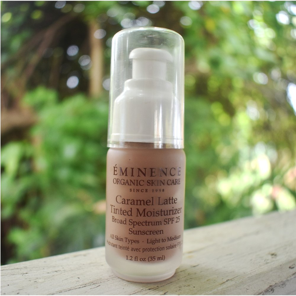 Eminence is a brand that I was first introduced to from getting a facial, however it wasn't until a few years later did I start using this organic tinted moisturizer with SPF 25 as a bronzer. One trick I have learned if I am sunkissed and a little more tan then normal, is to add a dollop of this.