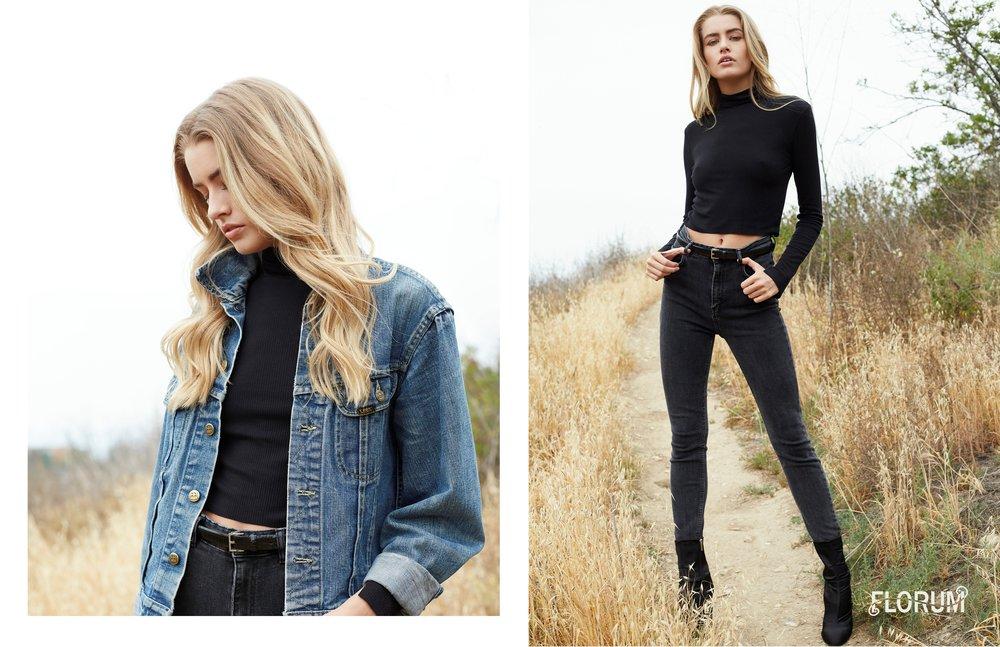 jacket  VINTAGE LEE  I turtleneck  REFORMATION  I belt  VINTAGE  I jeans  JBRAND