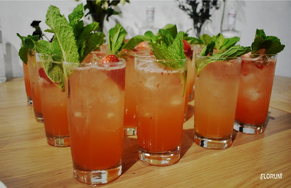 The strawberry basil gin drinks that paired with the first course were seriously heavenly to taste and oh so perfect for Miami.