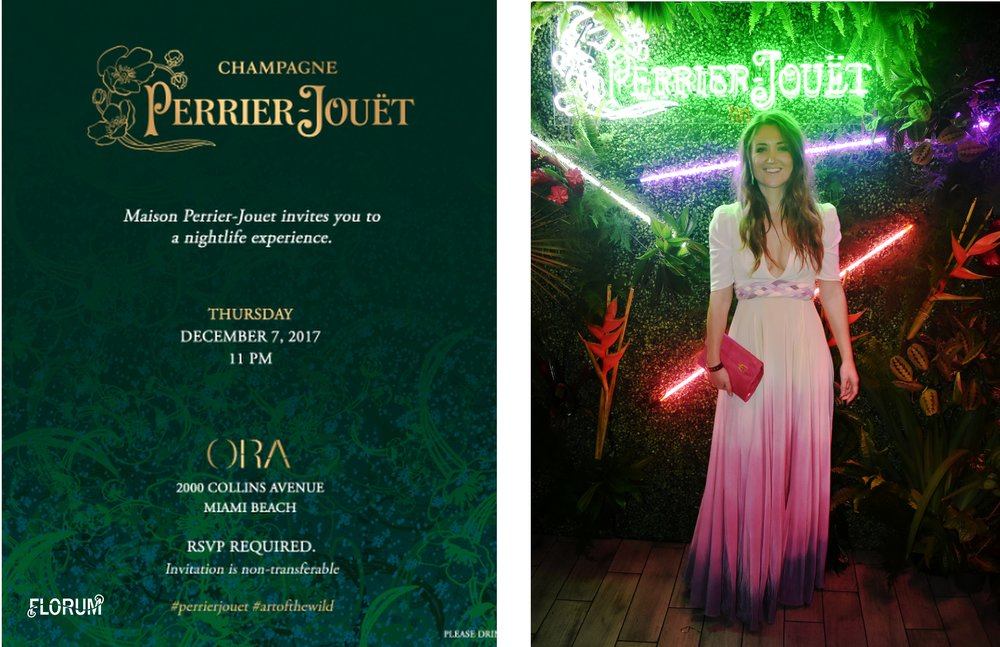 Maison Perrier-Jouet hosted a lovely nightlife experience at ORA in South Beach, where both the Perrier-Jouet champagne and beats flowed all night long.  I wore a another stunning dress from  sustainable Miami designer Seajasper , with a Rebecca Minkoff clutch that I purchased off  the Real Real  secondhand.