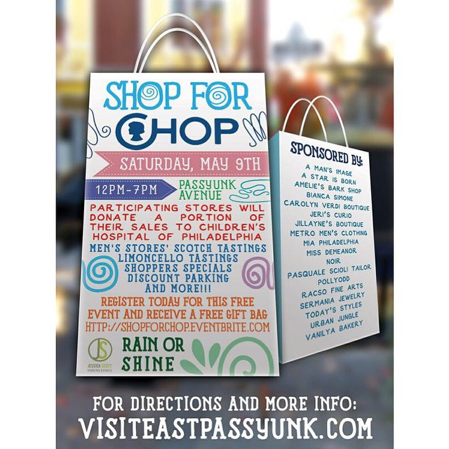 Join us on May 9th for Shop for CHOP and make a difference in a child's life!! More information visit: SHOPFORCHOP.eventbrite.com