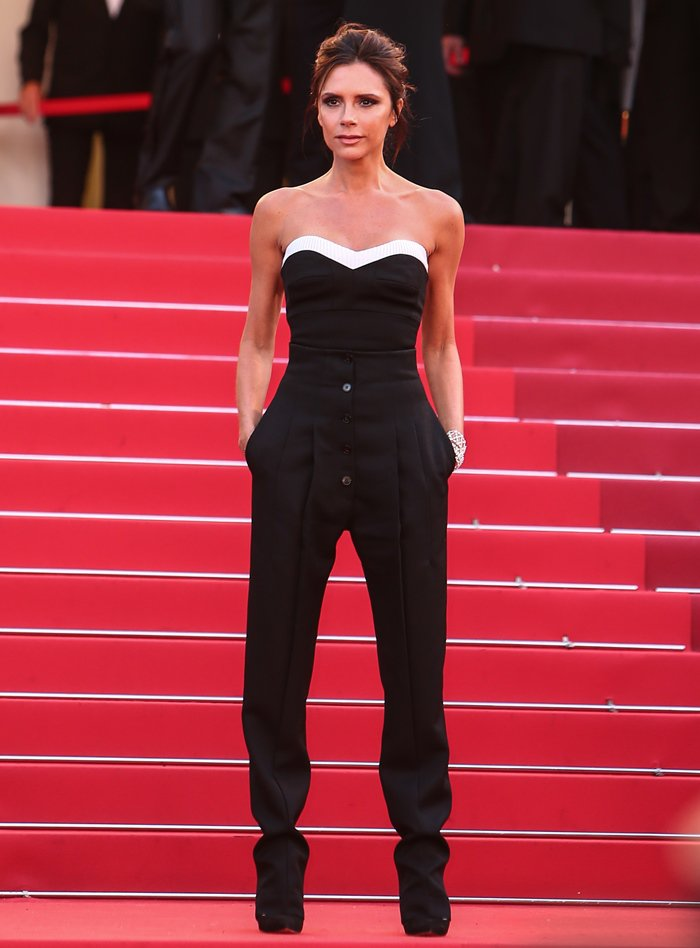 Victoria Beckham In a Victoria Beckham top and pants at the opening ceremony premiere of Café Society.