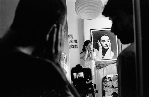 Fotografias de Lluís de Sola durante el rodaje de Ardara en Barcelona:  Fent Ardara