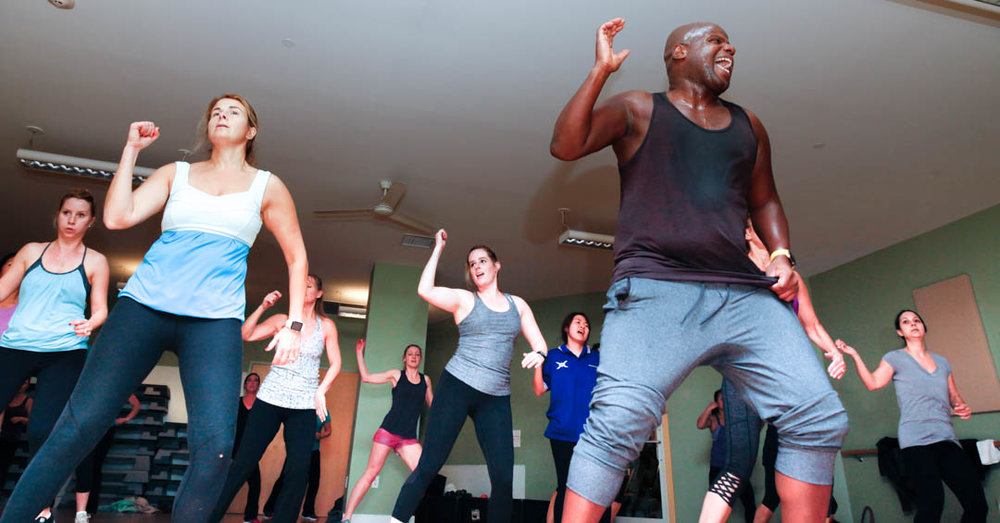 Learning as I go: How to photograph a Zumba class