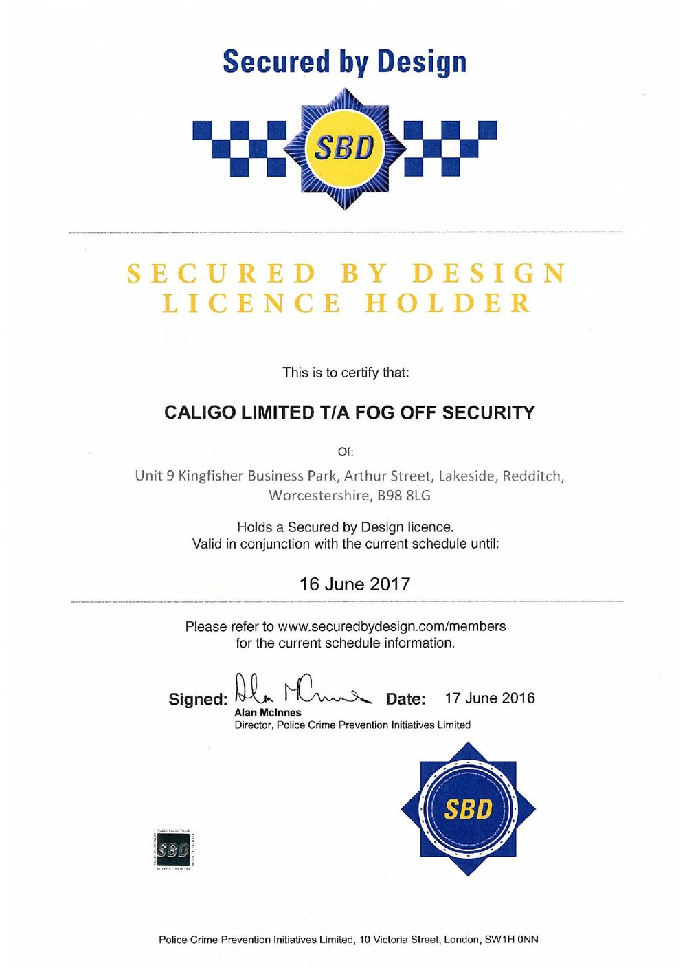 Secured by Design Certificate - Caligo Ltd Fog Off Security-page-001.jpg
