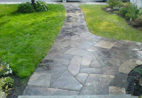 FLAGSTONE WALKWAYS AND PATIOS