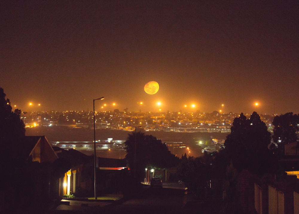 Full moon over Soweto