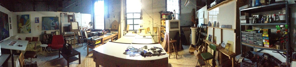 Panorama of the studio.