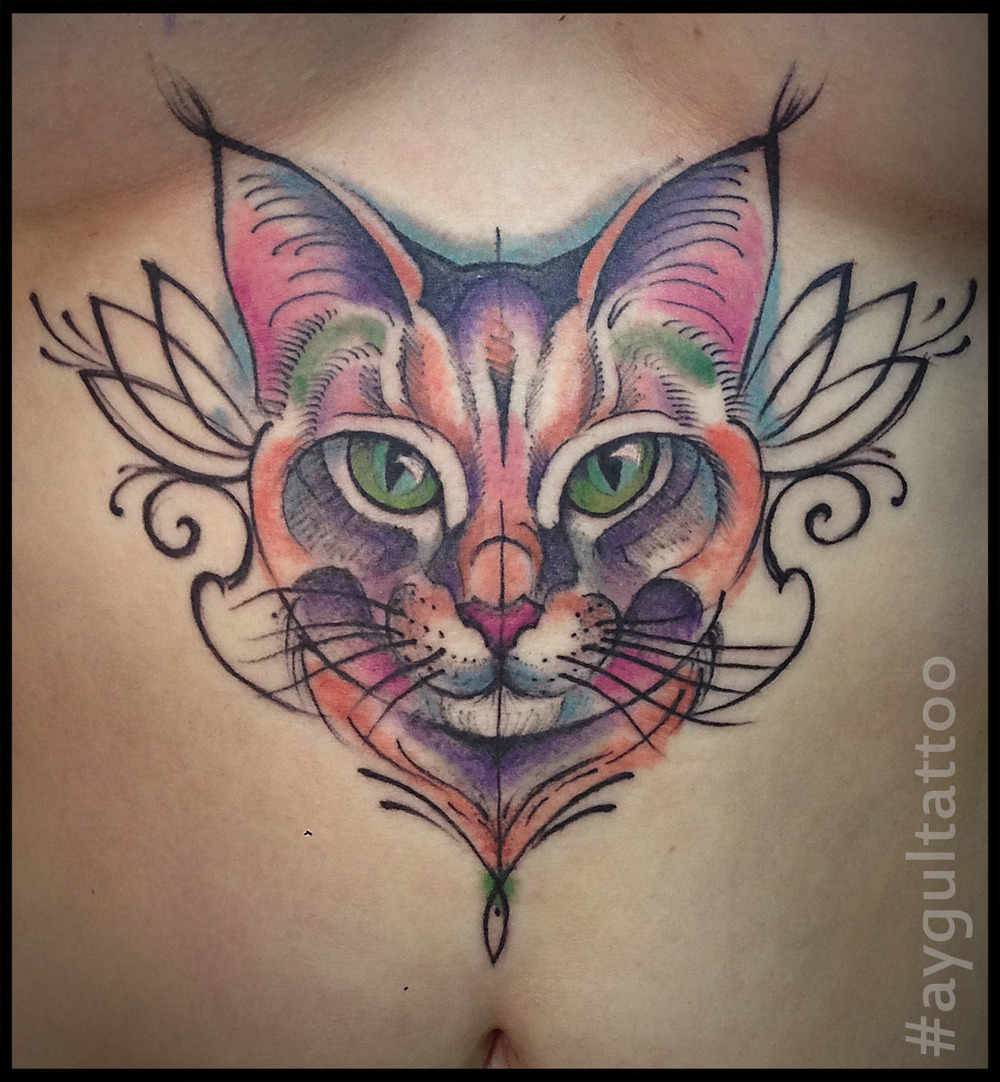 #cat #color #aygultattoo