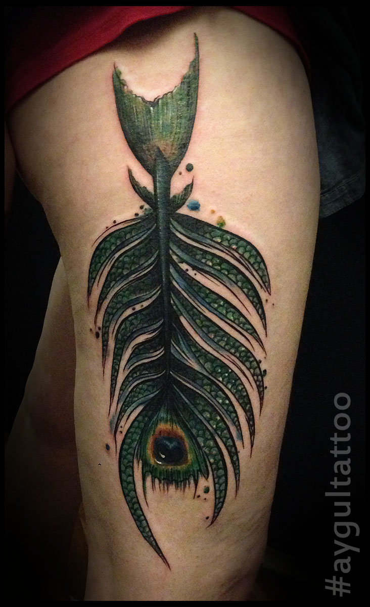 #featherfish #color #aygultattoo