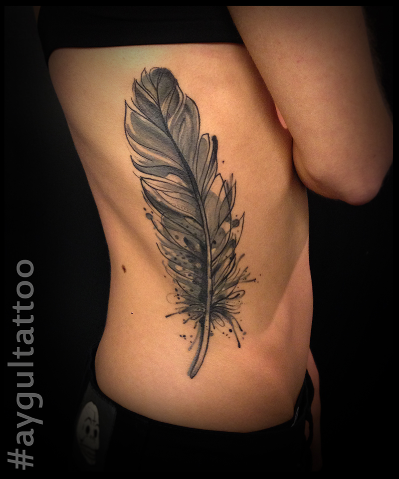 #feather #sketchy #watercolor #aygultattoo