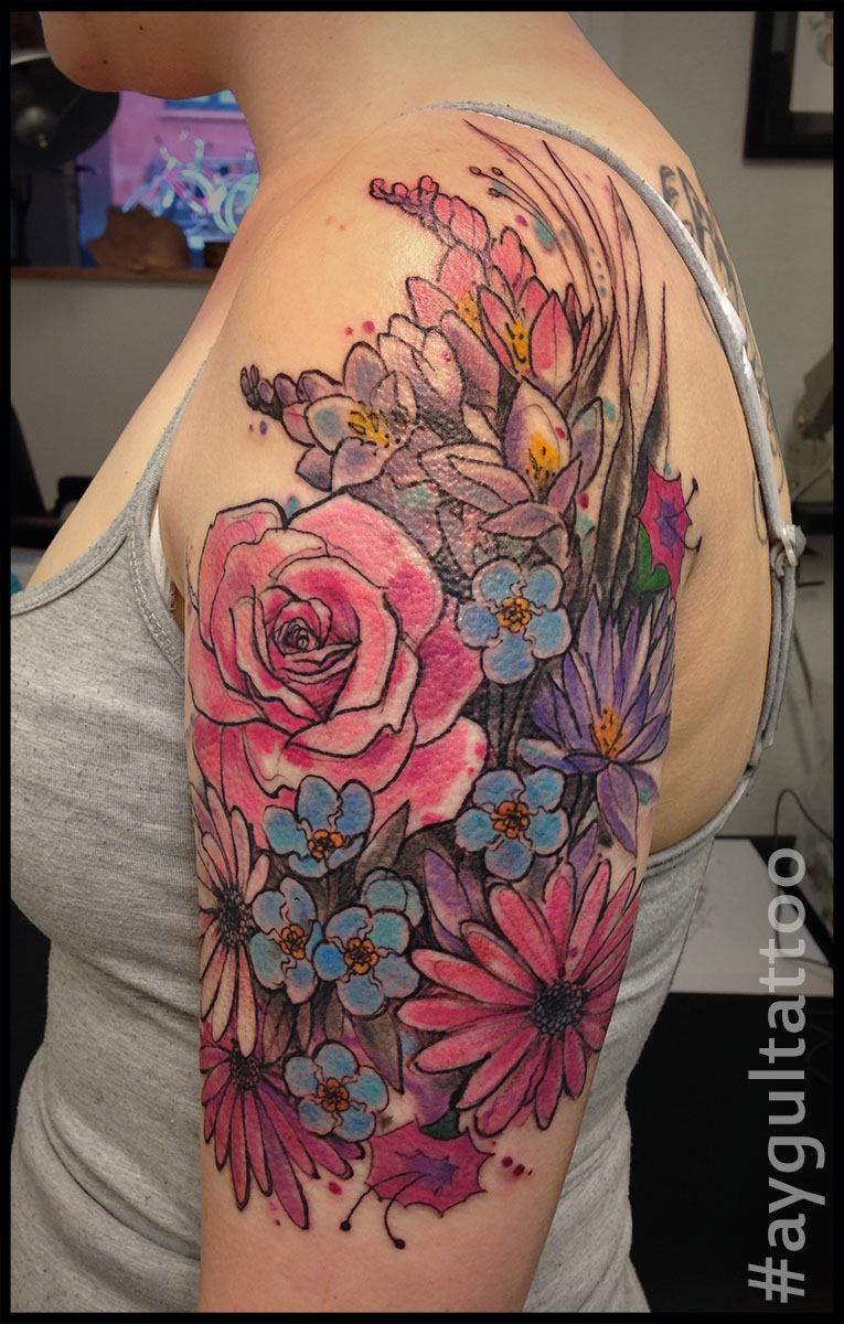 #flowers #color #buket #aygultattoo