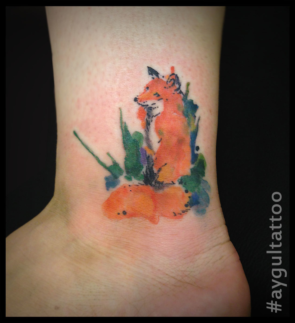 #fox #watercolor #aygultattoo