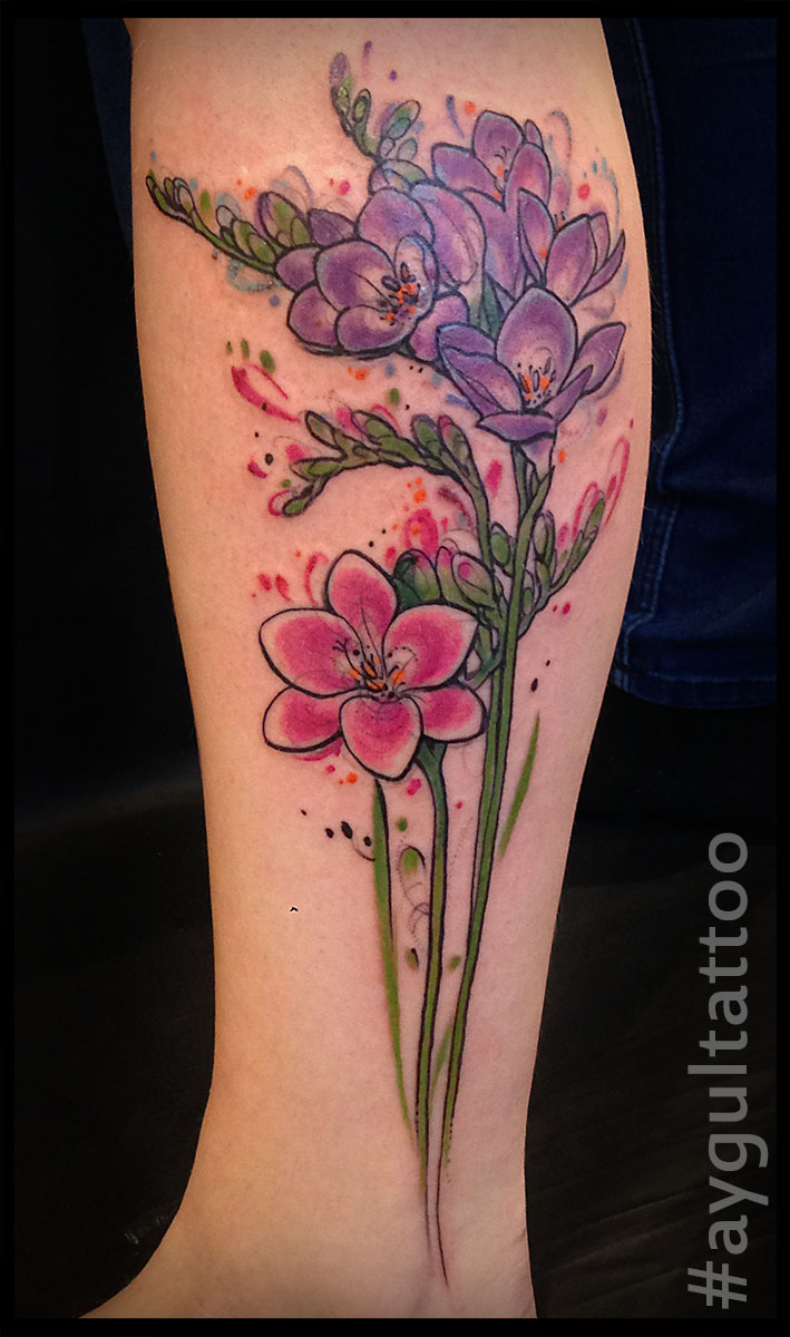 #freesia #flowers #color #aygultattoo