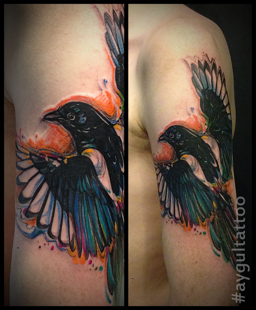#magpie #bird #color #aygultattoo