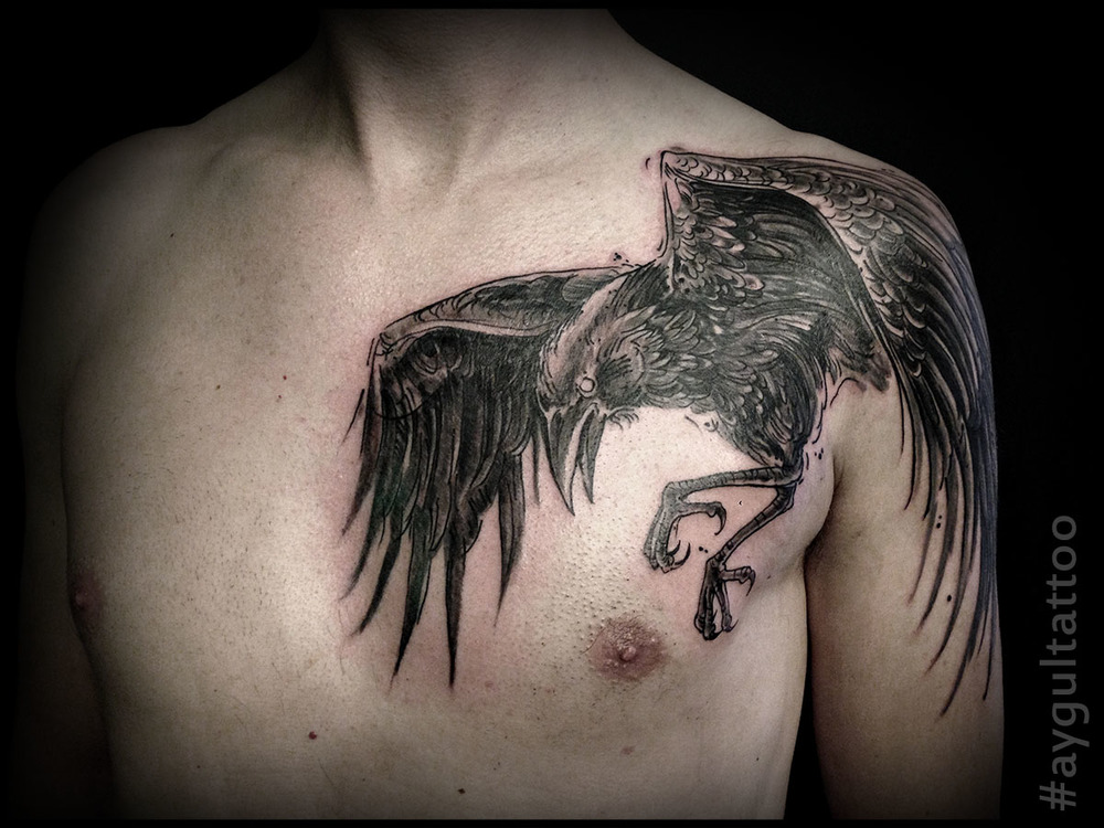 #raven #bird #aygultattoo