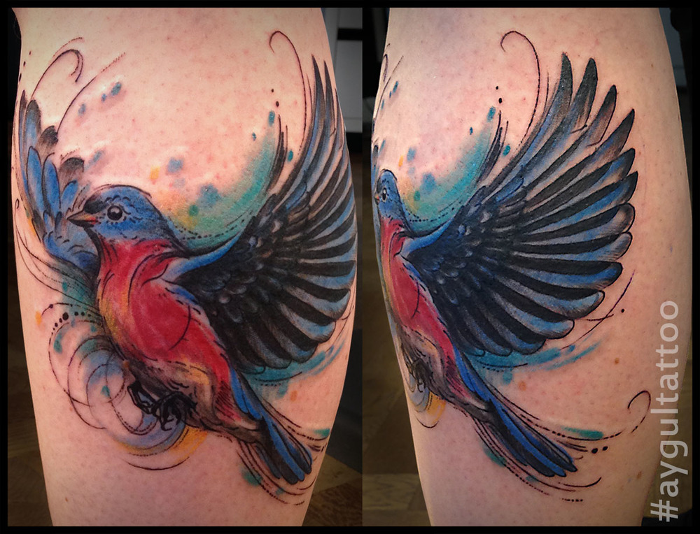 #titmouse #bird #color #aygultattoo