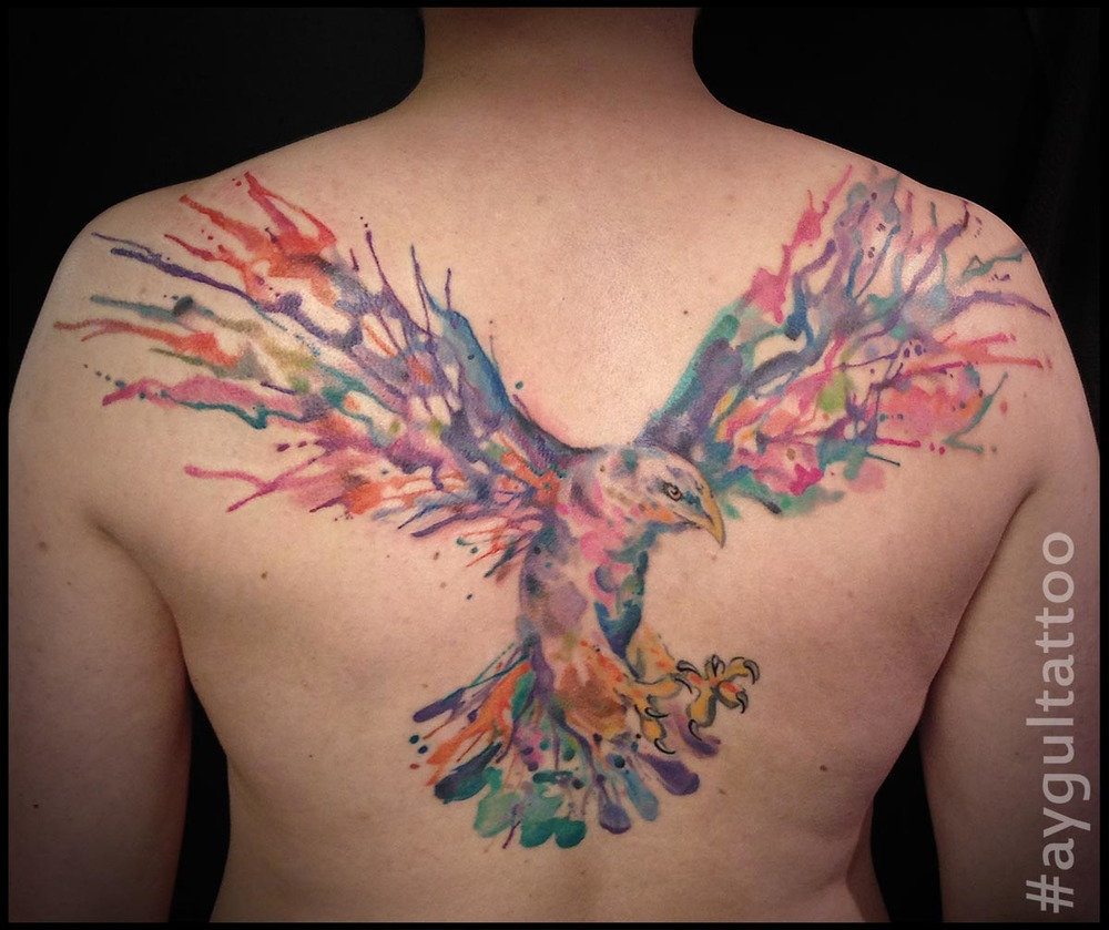 #eagle #rainbow #watercolor #aygultattoo