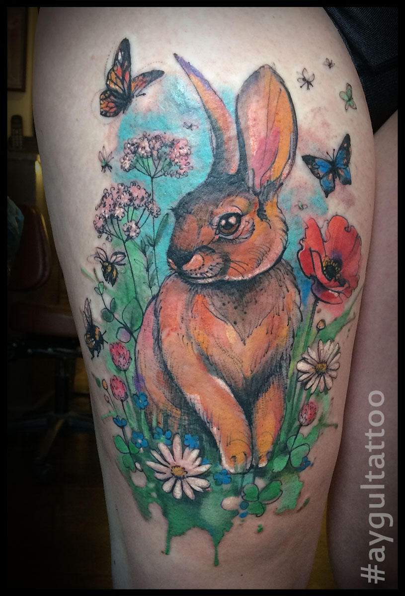 #rabbit #watercolor #sketchy #aygultattoo