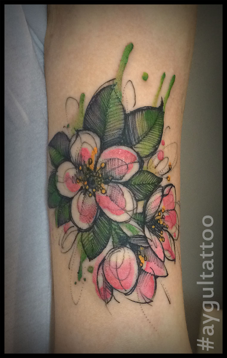 #cherry #blossom #sketchy #aygultattoo