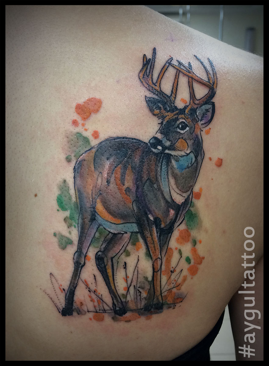 #deer #watercolor #aygultattoo