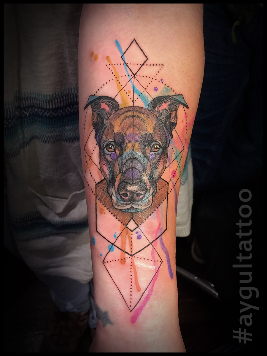 #dog #watercolor #geometry #aygultattoo