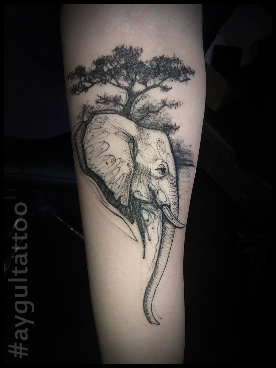 #elephant #tree #aygultattoo