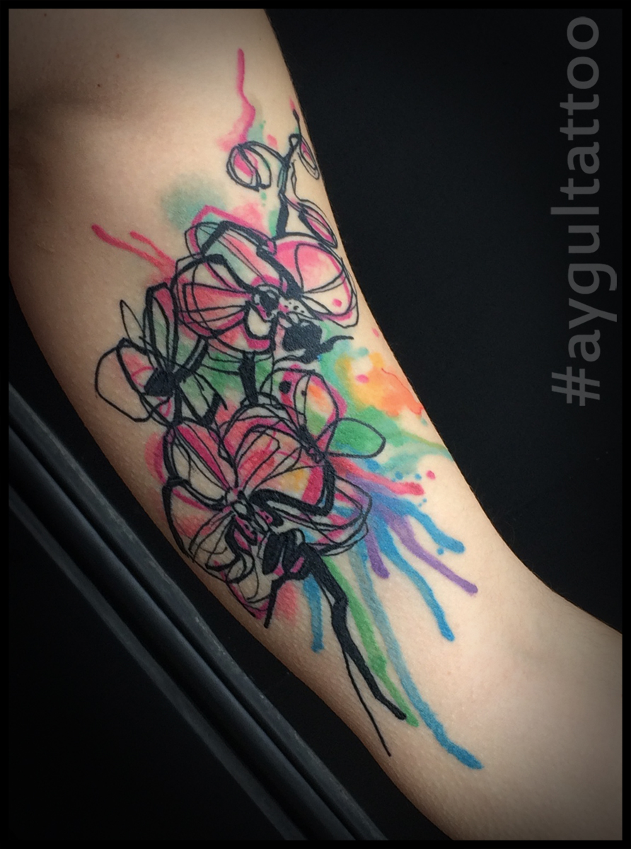 #flowers #watercolor #aygultattoo