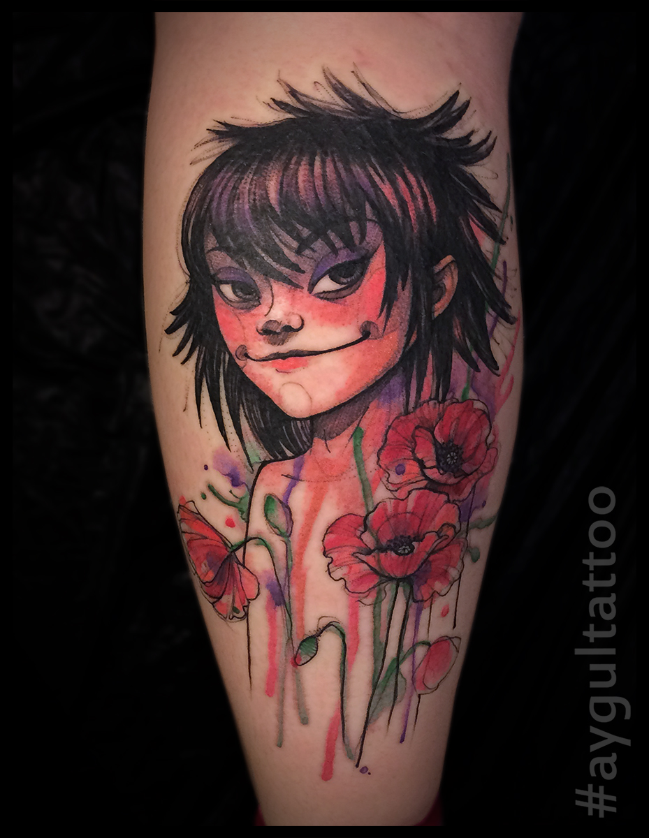 #gorillaz #flowes #watercolor #aygultattoo