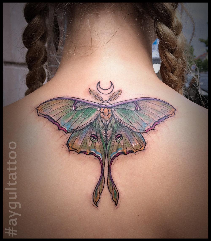 #luna #moth #aygultattoo
