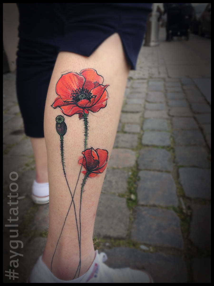 #poppy #seed #flower #sketchy #aygultattoo