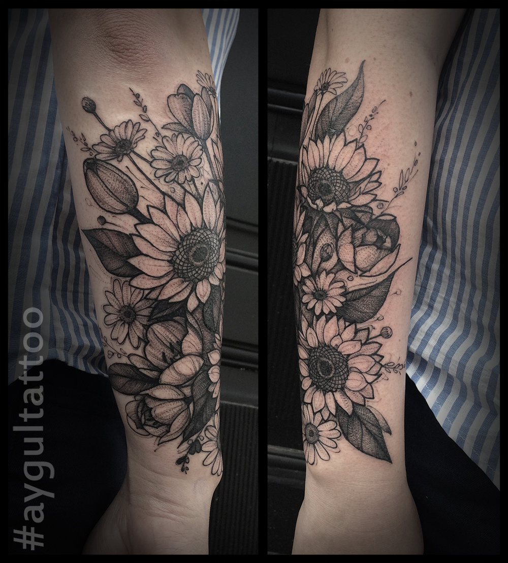 #sunflowers #sketchy #aygultattoo