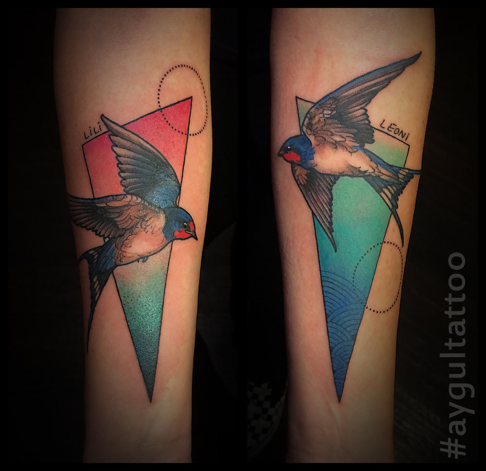 #swallow #geomery #aygultattoo