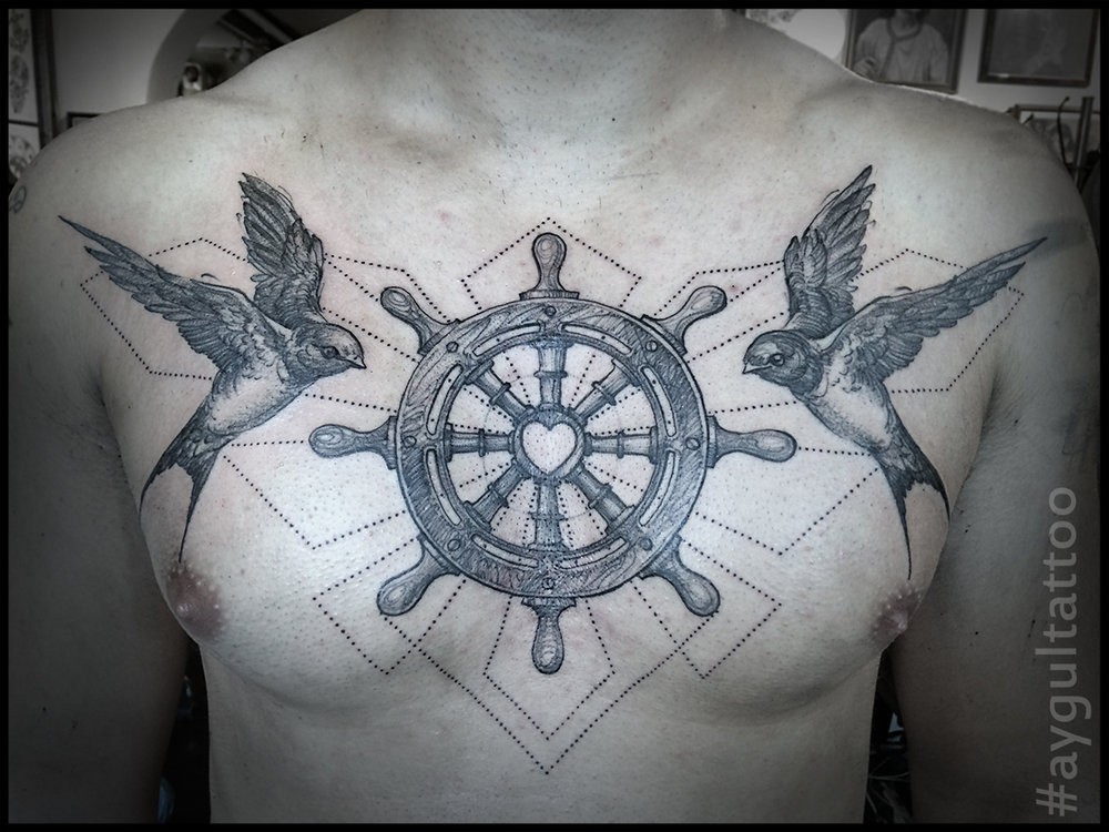 #swallow #steering #wheel #sketchy #aygultattoo