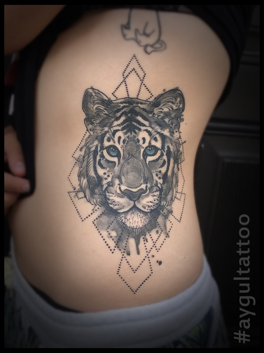 #tiger #sketchy #geometry #aygultattoo