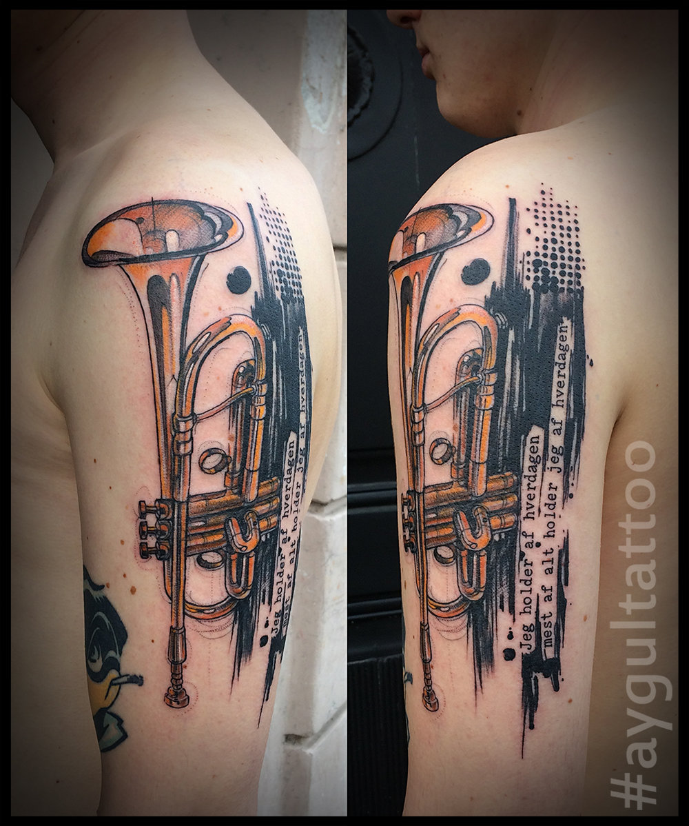 #trumpet #letters #sketchy #aygultattoo