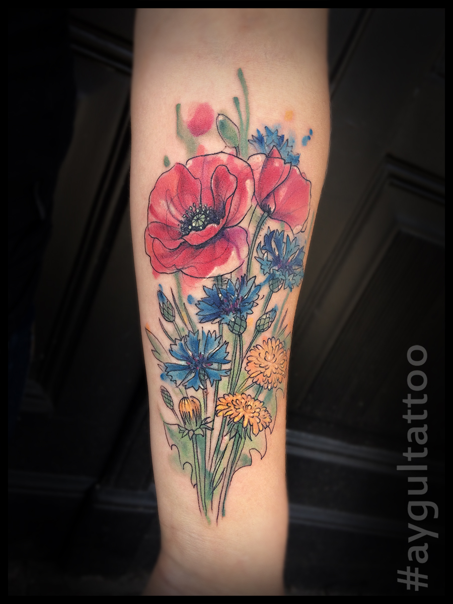 #wild #flowers #water #botanical #aygultattoo