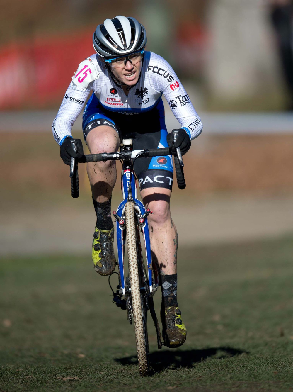 Sunny days for Jena Greaser, taking 4th on Saturday and 3rd on Sunday in Supercross Cup. Photo by Nin Lei.